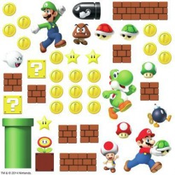 Murals Super Mario Build A Scene Wall Decals Mural