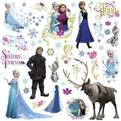 Murals Frozen Wall Decals With Glitter
