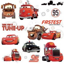 Murals Cars Friends To The Finish Wall Decals Mural