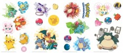 RMK2535SCS Iconic Pokemon Wall Decals Mural