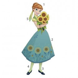 Murals Disney Frozen Fever Anna Peel and Stick Giant Wall Decals Mural