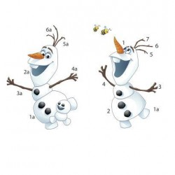 RMK3019SCS Disney Frozen Fever Olaf Wall Decals Mural
