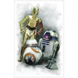 RMK3079TB Star Wars: The Force Awakens R2-D2,CP-30, BB-8 Giant Wall Decal Mural