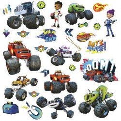 RMK3119SCS Blaze & the Monster Machines Peel and Stick Wall Decals Mural