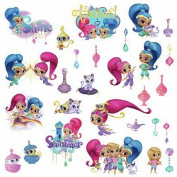 Murals Shimmer and Shine Wall Decals w/ Glitter Mural
