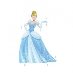 RMK3205GM Disney Princess Sparkling Cinderella Giant Wall Decal