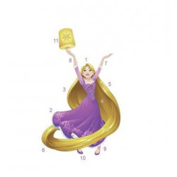 RMK3208GM Disney Princess Sparkling Rapunzel Giant Wall Decal