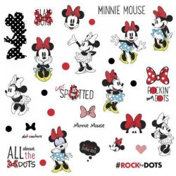 RMK3257SCS Minnie Rocks the Dots Wall Decals Mural
