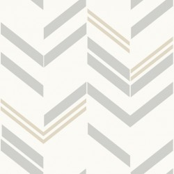 RMK9004RL Grey Chevron Stripe Peel & Stick Decor