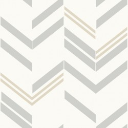 RMK9004WP Chevron GreyStripe Peel & Stick Wallpaper