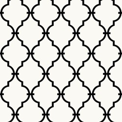 RMK9018WP Black White Modern Trellis Peel and Stick Wallpaper