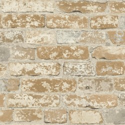 RMK9037WP Stuccoed Brown Brick Peel and Stick Wallpaper