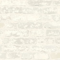 RMK9038WP Stuccoed White Brick Peel and Stick Wallpaper