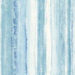 RMK9061WP Watercolor Stripe Blue Peel & Stick Wallpaper