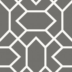 RMK9069WP Modern Geometric Dk Grey  Peel & Stick Wallpaper