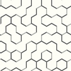 RMK9091WP Open Geometric Black Peel & Stick Wallpaper