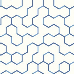 RMK9093WP Open Geometric Blue Peel & Stick Wallpaper
