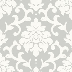 RMK9112WP Damask Grey Peel & Stick Wallpaper