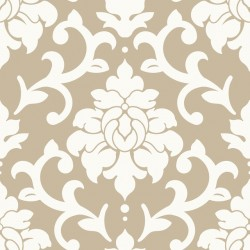 RMK9113WP Damask Gold Peel & Stick Wallpaper