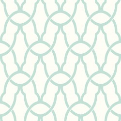 RMK9120WP Trellis Blue  Peel & Stick Wallpaper