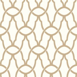 RMK9121WP Trellis Gold Peel & Stick Wallpaper