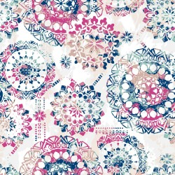 RMK9125WP Bohemian Pink/Blue Peel & Stick Wallpaper