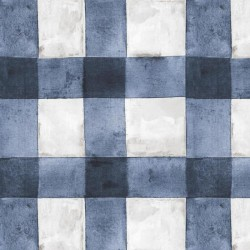 RMK11196RL Buffalo Plaid Blue Peel & Stick Wallpaper