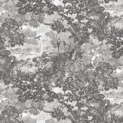 RMK11202RL Jungle Toile Peel & Stick Wallpaper
