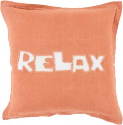 Just Relax Red, Tan Pillow | RX003-2222D