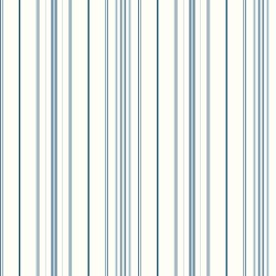 Cobalt Blues Wide Pinstripe Wallpaper (SA9111_B18)