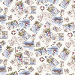 Sail Away Sea Kasmir Fabric