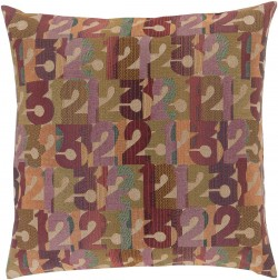Follow the Numbers Multi-Color Pillow   SHP001-1319P