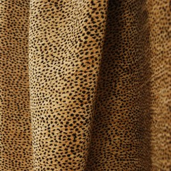 Siamese Black Tan Leopard Cheetah Upholstery Fabric