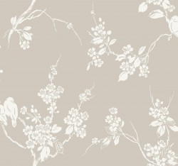 SS2591 Taupe Imperial Blossoms Branch Wallpaper