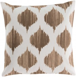 Exquisite in Ikat Brown, Tan Pillow | SY018-1818P