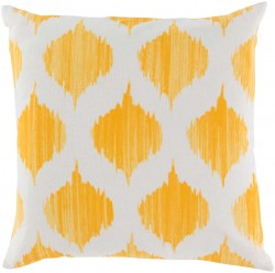 Exquisite in Ikat Yellow, Tan Pillow | SY020-1818P