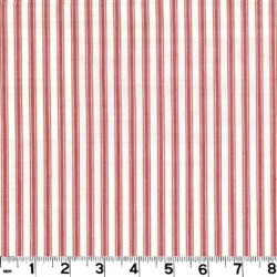 Taffeta Ticking Red Fabric