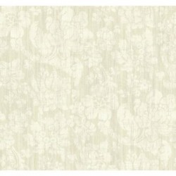 AD1291 Cream Jacobean Floral on Metallic Cream Wallpaper
