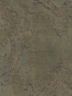 TG50409 Ethnic Damask Medallion Wallpaper