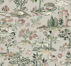 TL1951 Taupe/Coral Kingswood Wallpaper