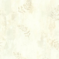 Fern Cottage Cream Leaf Toss Wallpaper