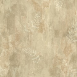 Fern Cottage Beige Leaf Toss Wallpaper
