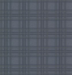 Fox Hollow Navy Plaid Wallpaper