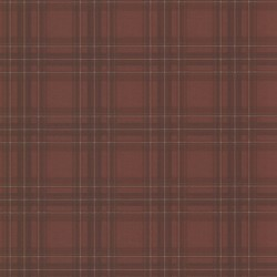 Fox Hollow Dark Red Plaid Wallpaper