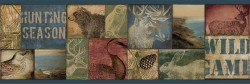 Trumball Teal Wild Game Wallpaper Border