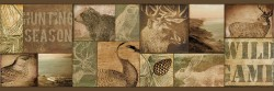 Trumball Brown Wild Game Wallpaper Border