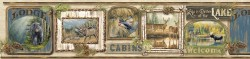 Poinsett Neutral Cabin Fever Wallpaper Border