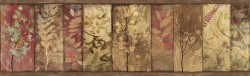 Lillinonah Brown Foliage Wallpaper Border