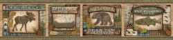 Tugalo Green Bear Paw Lodge Wallpaper Border