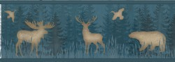 Saylorville Blue Lawndale Wallpaper Border